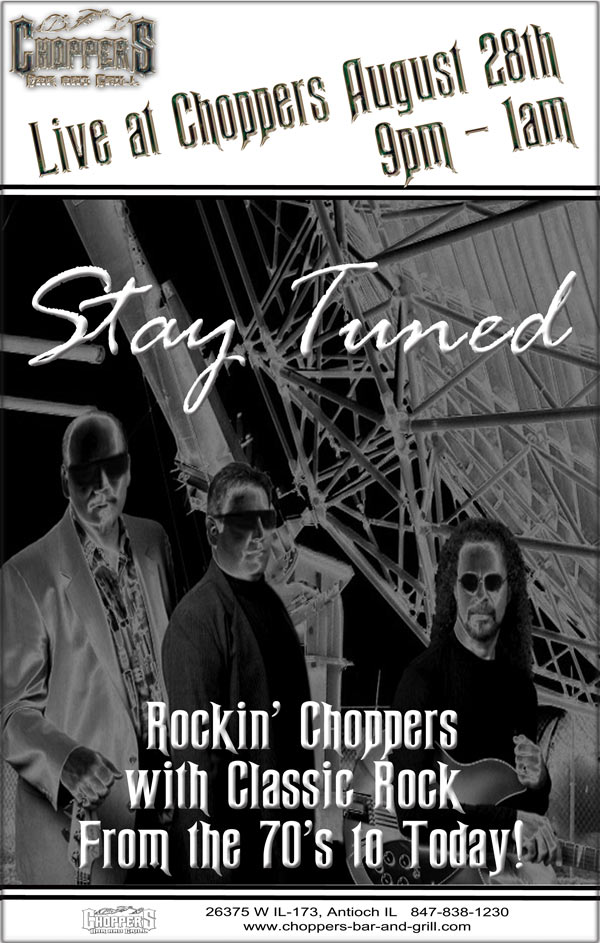 August Events at Choppers Bar and Grill
